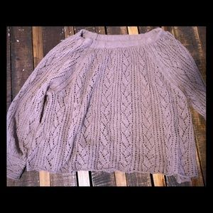 Free people off the shoulder sweater!